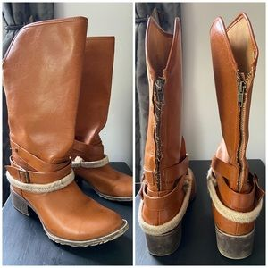 Groove Cowgirl Boots, Dallas, Zip, Brown, Size 7
